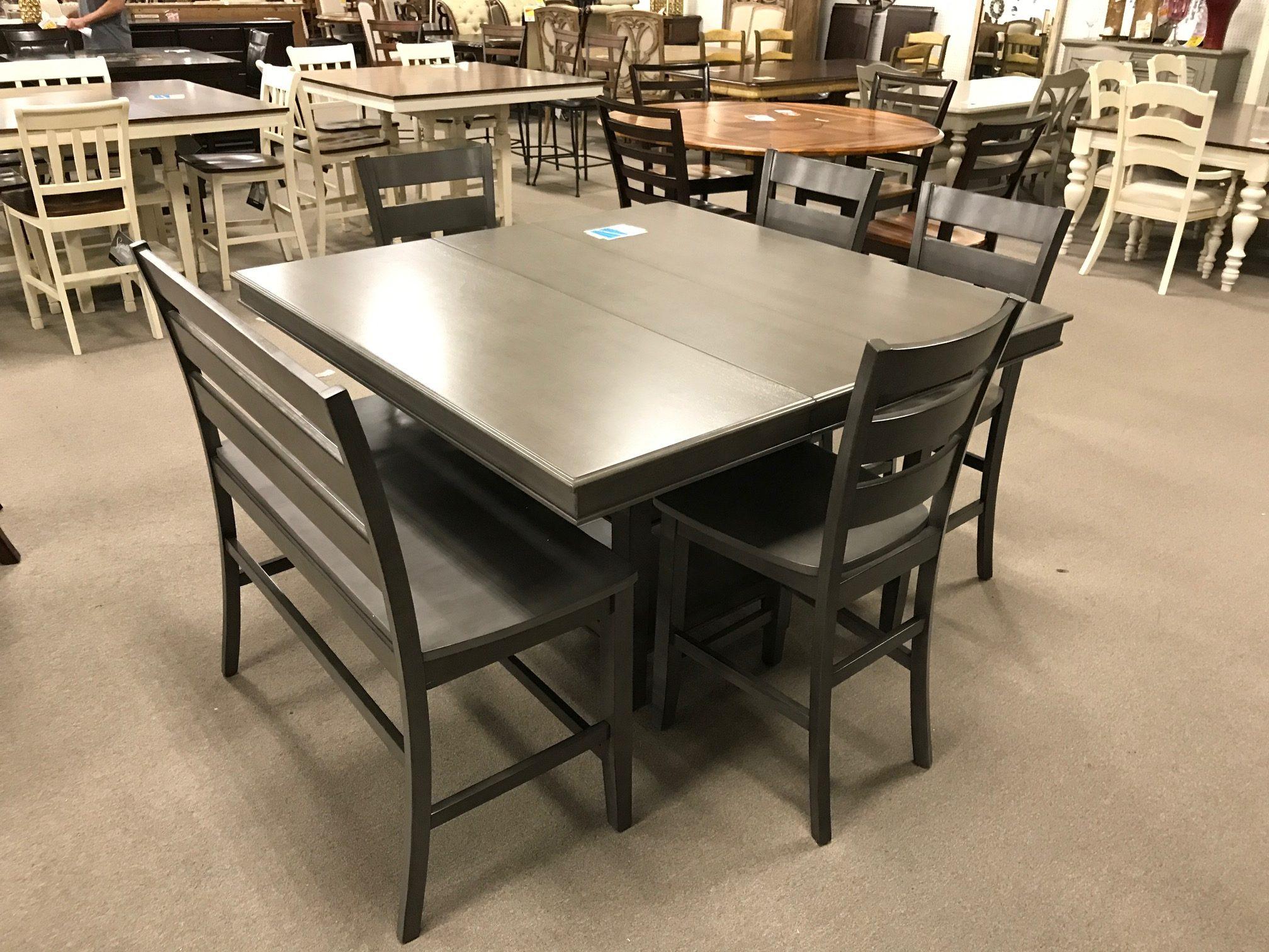 Gray Dining Room Set - Heavner Furniture Market