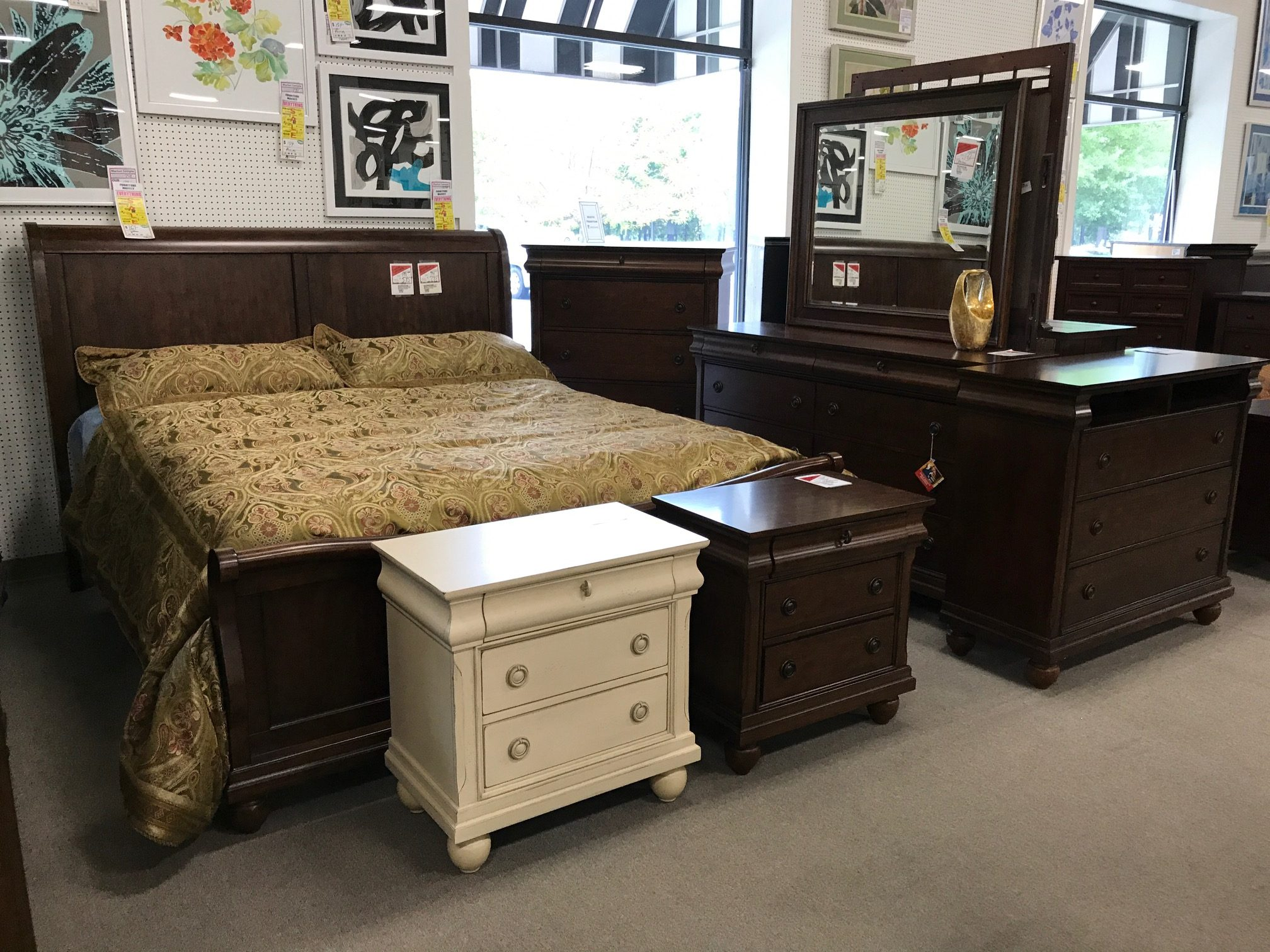 Rustic traditions bedroom set heavner furniture market for Furniture market