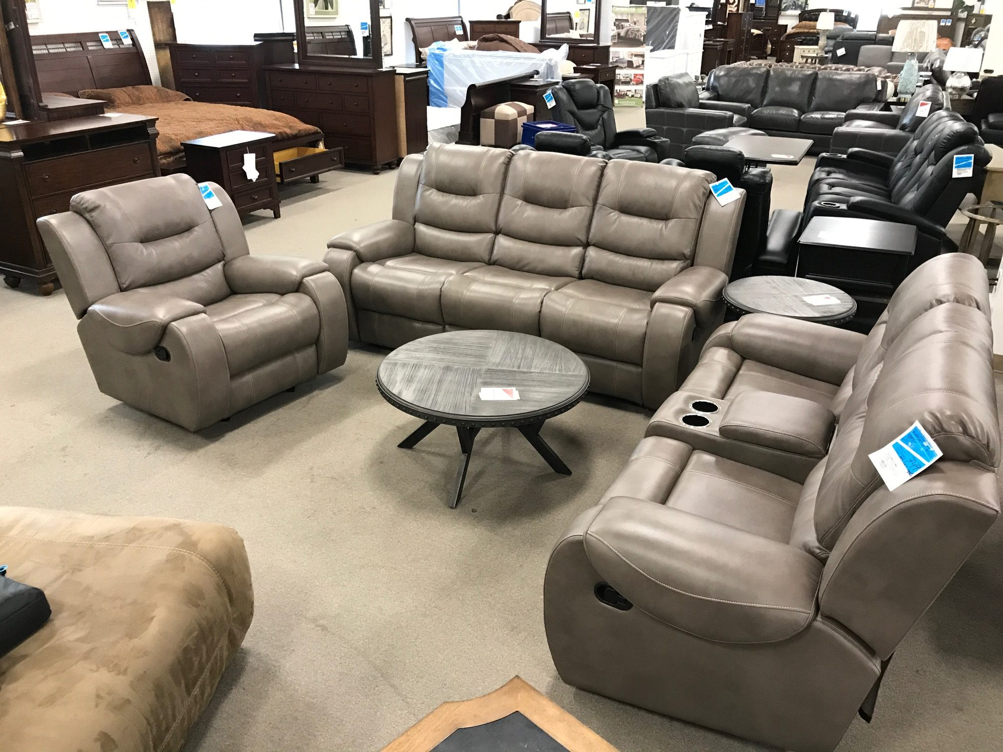 Taupe Living Room Set Heavner Furniture Market