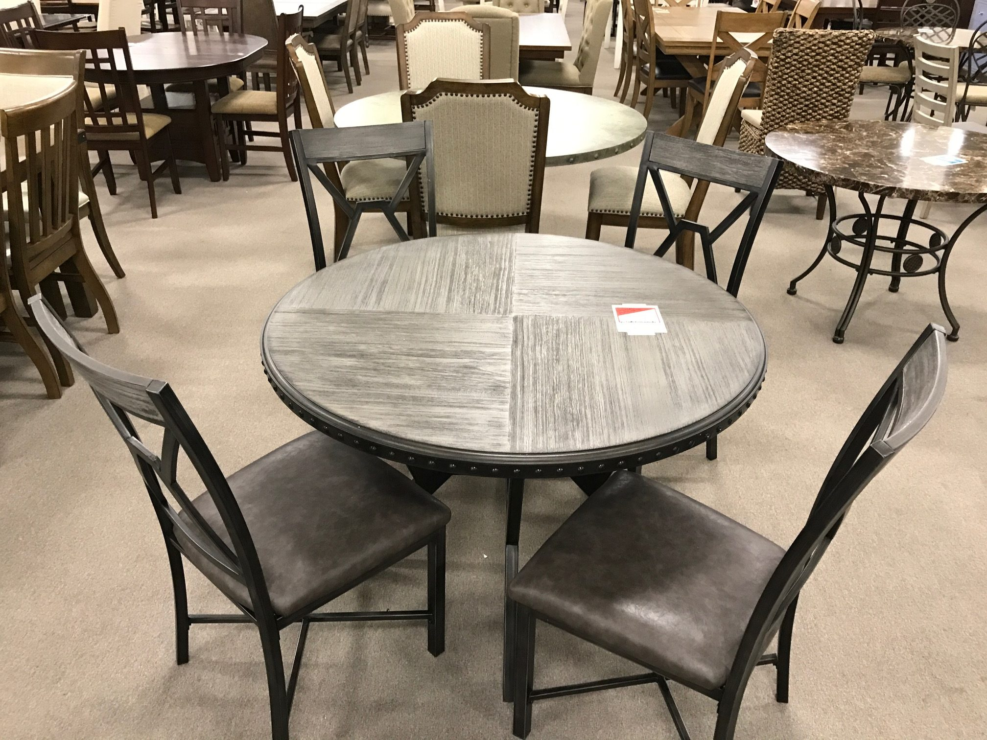 5pc Round Table Chairs Heavner Furniture Market