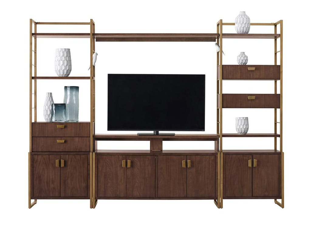 Modern harmony entertainment wall unit heavner furniture for Furniture market